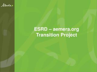 ESRD – aemera Transition Project