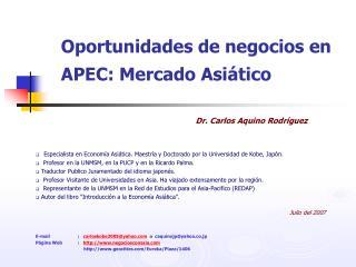 Oportunidades de negocios en APEC: Mercado Asi tico