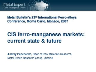 CIS ferro-manganese markets: current state & future