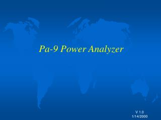 Pa-9 Power Analyzer