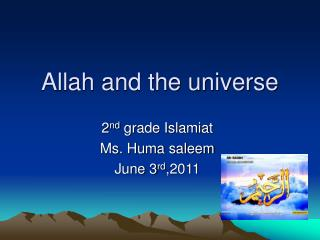 Allah and the universe