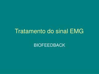 Tratamento do sinal EMG