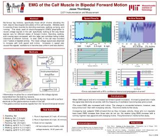 EMG of the Calf Muscle in Bipedal Forward Motion   . Jesse Thornburg
