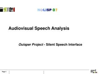 Audiovisual Speech Analysis