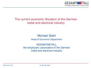 Michael Stahl Head of Economic Department