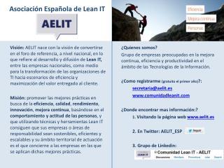 Asociación Española de Lean IT