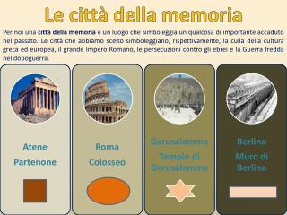 Le città della memoria