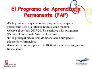 El Programa de Aprendizaje Permanente (PAP)
