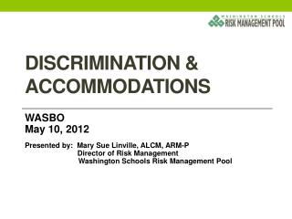 Discrimination & accommodations