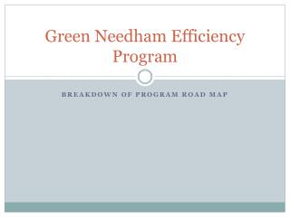 Green Needham Efficiency Program