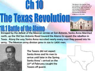 10.1 Battle of the Alamo
