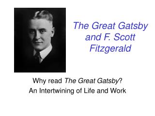 The Great Gatsby and F. Scott Fitzgerald