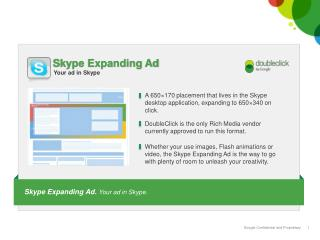 Skype Expanding Ad