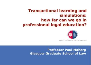 Transactional learning and simulations:  how far can we go in professional legal education?
