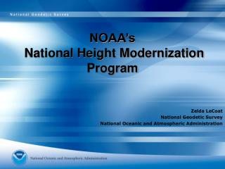 NOAA�s  National Height Modernization  Program