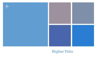 Higher Folio