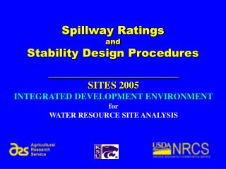 Spillway Ratings  and Stability Design Procedures