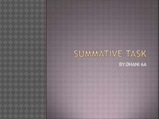 SUMMATIVE TASK