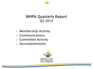 WHPA  Quarterly Report Q2 2014