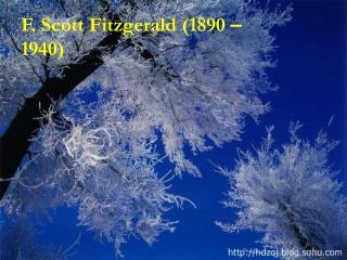 F. Scott Fitzgerald (1890  – 1940)