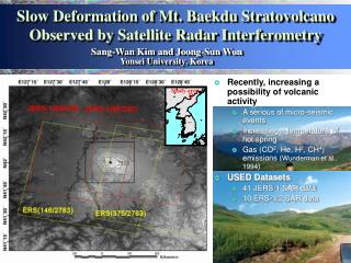 Slow Deformation of Mt. Baekdu Stratovolcano Observed by Satellite Radar Interferometry