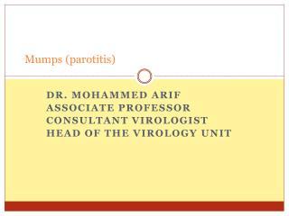 Mumps parotitis