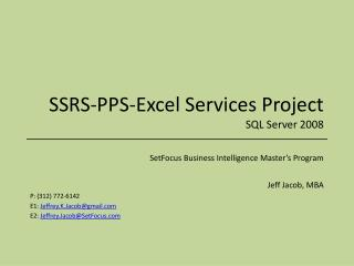 SSRS-PPS-Excel Services Project SQL Server 2008