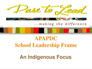 APAPDC School Leadership Frame
