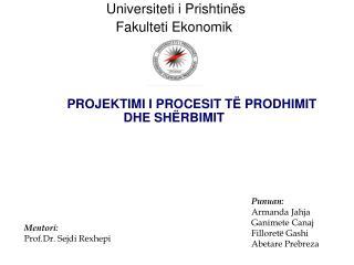 Universiteti i Prishtinës Fakulteti Ekonomik