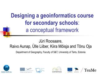 Designing a geoinformatics course for secondary schools : a conceptual framework