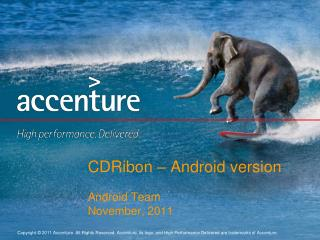 CDRibon  – Android version Android Team November, 2011