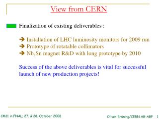 View from CERN