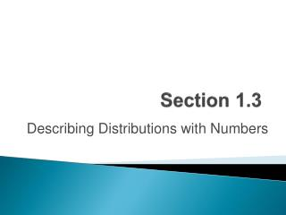 Section  1.3