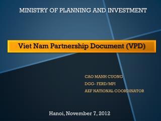 Viet Nam Partnership Document (VPD)