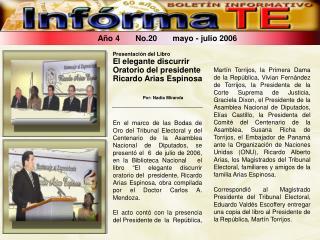 Año 4       No.20       mayo - julio 2006