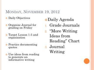 Monday , November  19,  2012