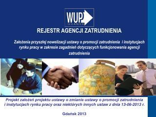 Projekt założeń projektu ustawy o zmianie ustawy o promocji zatrudnienia