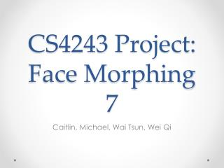 CS4243 Project: Face Morphing 7