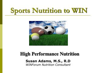 Sports Nutrition to WIN