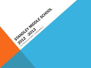 Standley  Middle School 2012   -2013