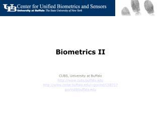Biometrics II