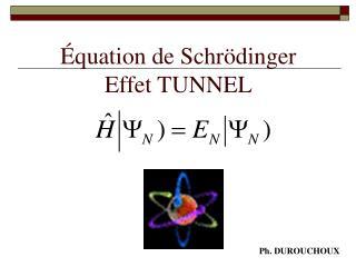 Équation de Schrödinger  Effet TUNNEL