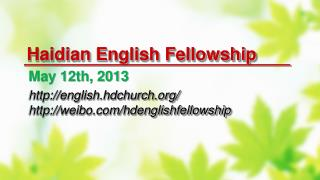 Haidian  English Fellowship
