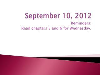 September 10, 2012