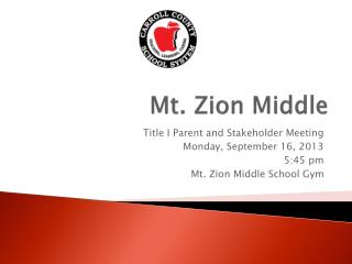 Mt. Zion Middle