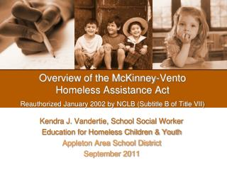 Kendra J. Vandertie, School Social Worker Education for Homeless Children & Youth