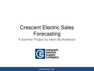 Crescent Electric Sales Forecasting