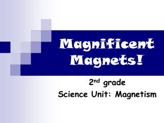 Magnificent Magnets!