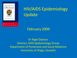 HIV/AIDS Epidemiology Update      February 2009