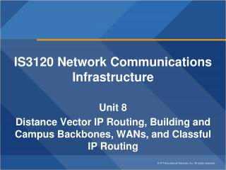 IS3120 Network Communications Infrastructure Unit 8